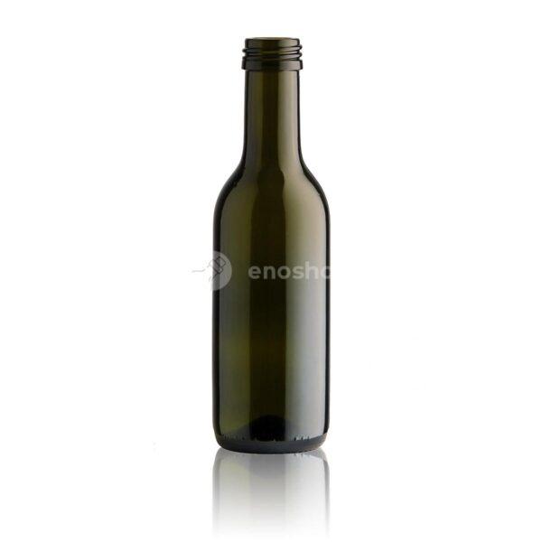 butelka na wino BORDEAUX 187,5 ml antique green