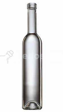 butelka do wódki BORDOLESE FUTURA 330 500ml - bezbarwna