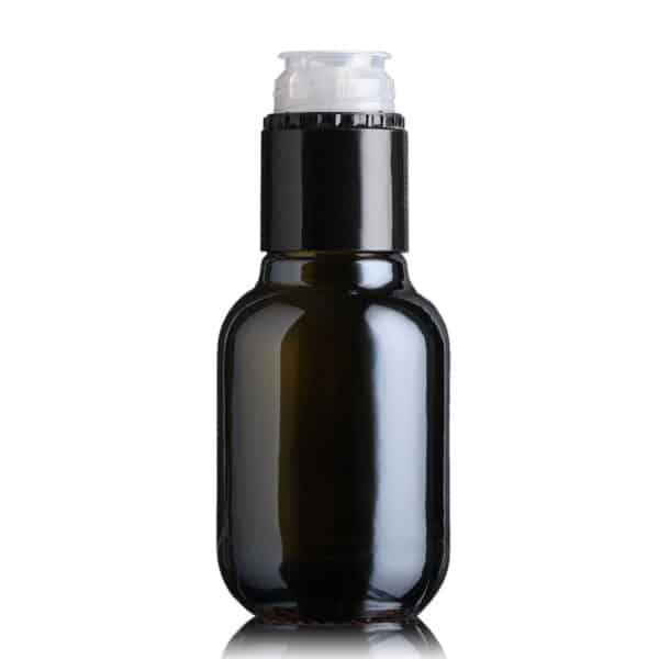 piękna butelka na olej i oliwę BIOLIO 100 ml - ciemna