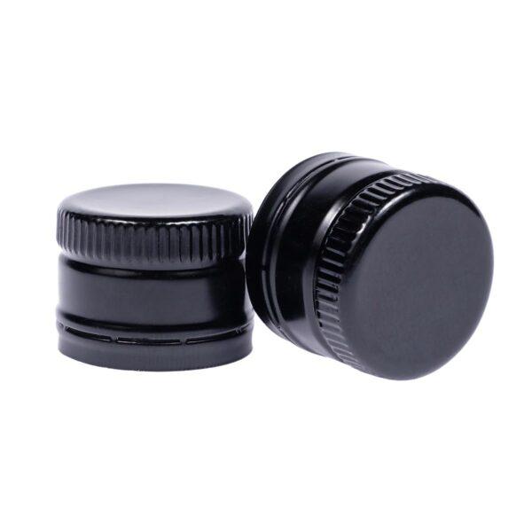 zakrętka do oliwy 31,5x24 czarna z wkładką