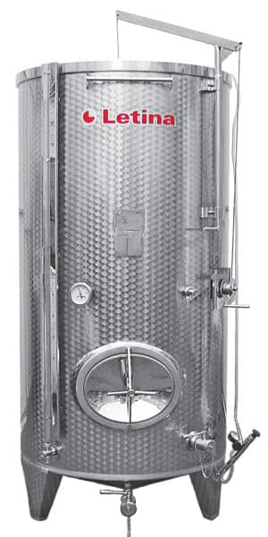 Zbiornik fermentacyjny na wino LETINA PZP 1100 - płaszcz chłodzący