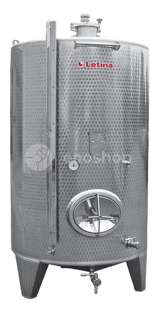 Zbiornik fermentacyjny na wino LETINA Z 2450 - zamknięty, płaszcz chłodzący
