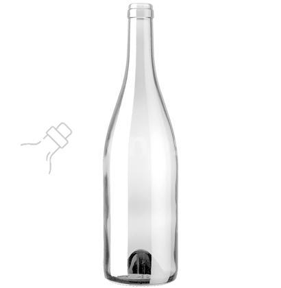 butelka na wino BURGUNDER EVOLUTION 750 ml - bezbarwna