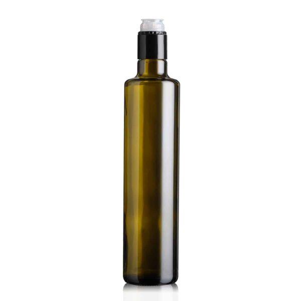 butelka na olej i oliwę DORICA TOP 500 ml - ciemna