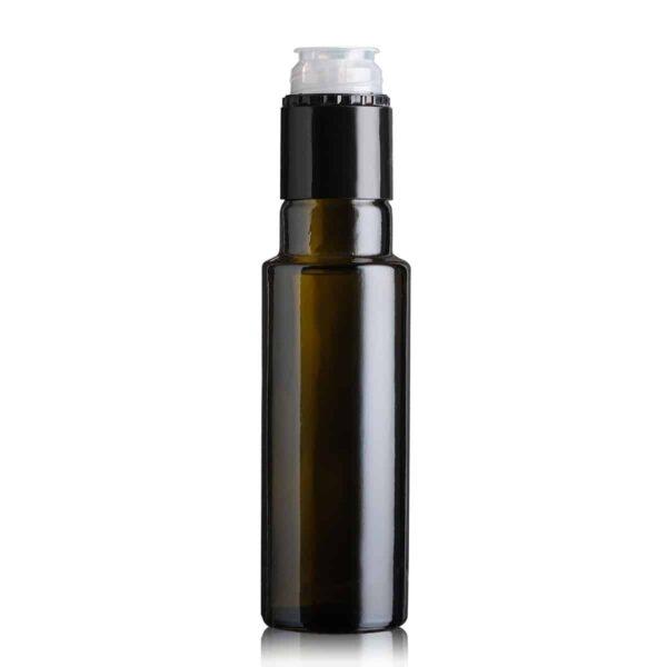 butelka na olej i oliwę DORICA TOP 100 ml - ciemna