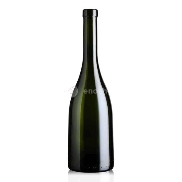 butelka na wino BURGUNDER MVZ 750 ml - oliwkowa