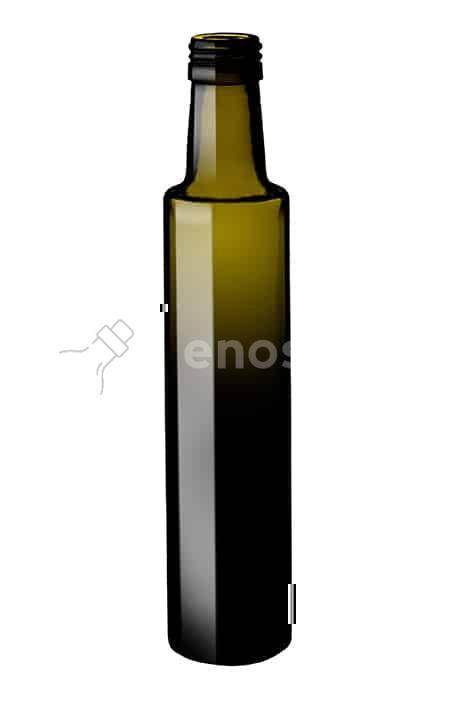 butelka na oliwę DORICA 250 ml ciemnozielona - do oleju i oliwy (paleta 2208 szt. cena netto 1,04 zł)