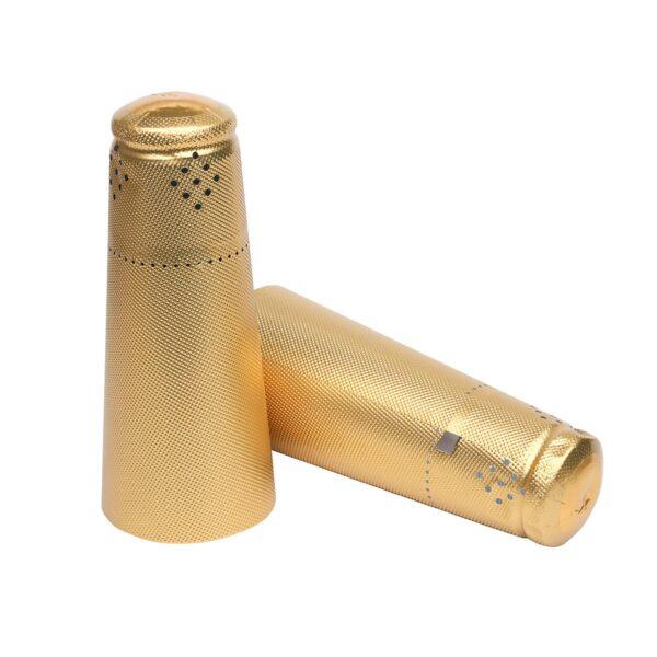 Kapturki do szampana 34x120 ZŁOTE fakturowane