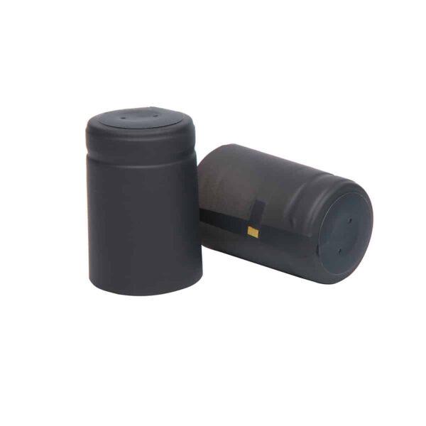 kapturki termokurczliwe do oliwy i soków 29,5x45 mm czarny mat