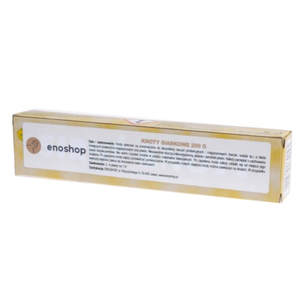 Knoty siarkowe 18x2 cm KTN 200 g
