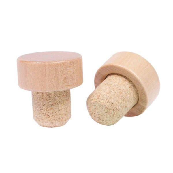 korek typu grzybek 32,1x19,5 mm lakierowane drewno