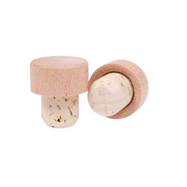 korek typu grzybek 30x19,5 mm lakierowane drewno