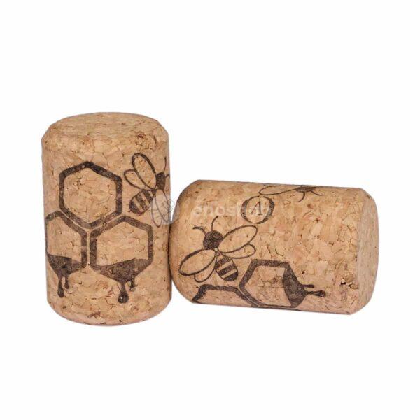 naturalne korki do wina AGLOMEROWANE 35x23 - plaster miodu