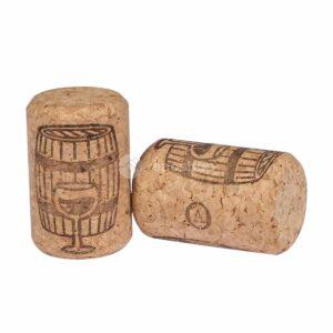 naturalne korki do wina AGLOMEROWANE 35x23 - beczka
