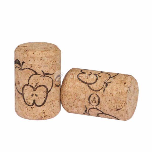 naturalne korki do wina AGLOMEROWANE 35x23 - jabłka