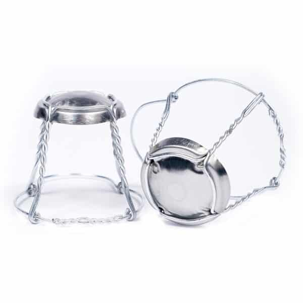 koszyczki do win musujących srebrne