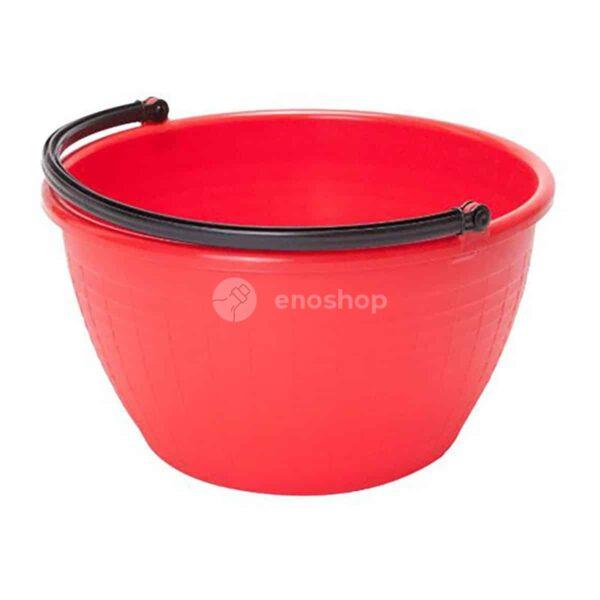 wiadro plastikowe okrągłe 20 l - czerwone