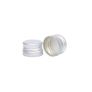 zakrętka aluminiowa 18x12 mm do butelek miniaturowych srebrna