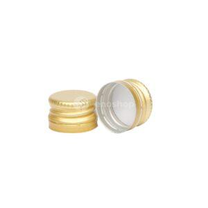 zakrętka aluminiowa 18x12 mm do butelek miniaturowych złota