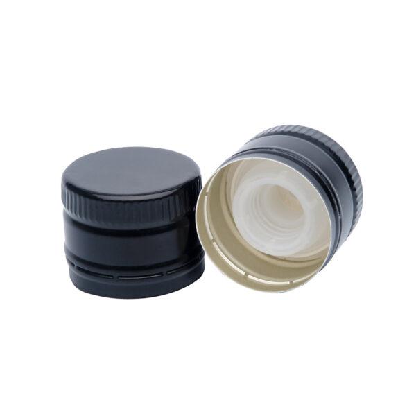 zakrętka do oliwy 31,5x24 czarna bez gwintu